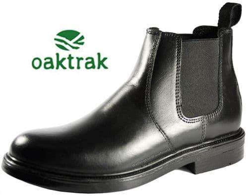 Oaktrak Walton Boys Black Pull On Boots